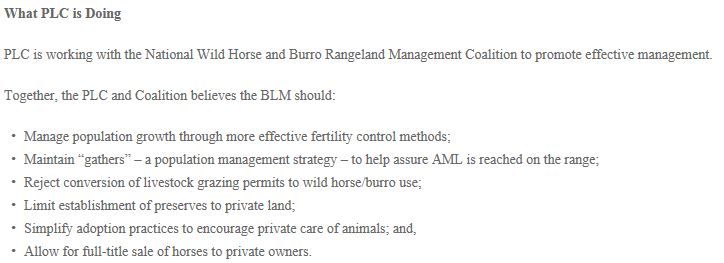 Public Lands Council Anti Horse Agenda-1