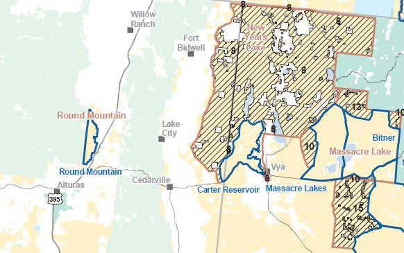 Cedarville CA Map-1