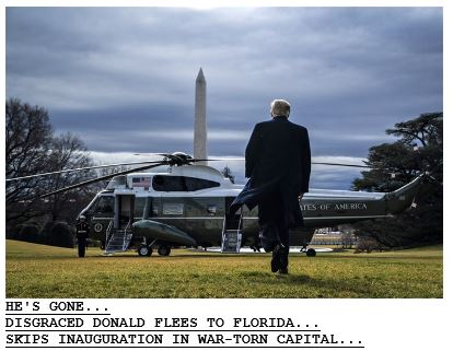 Trump Leaves White House 01-20-21