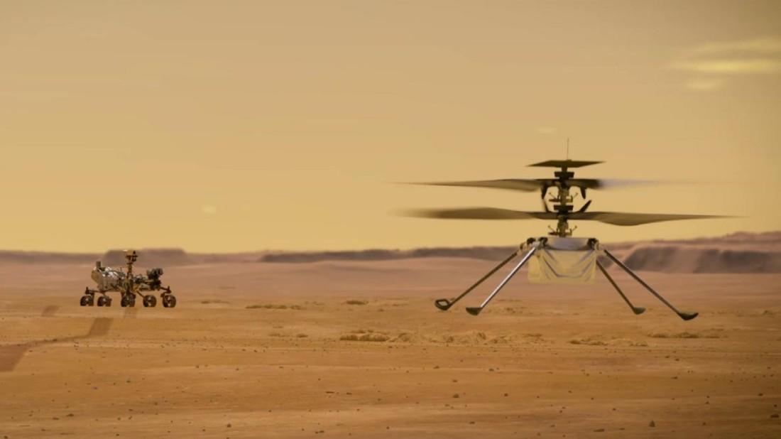 Ingenuity Flies on Mars 04-19-21