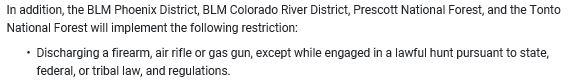 Arizona Fire Restrictions 05-13-21